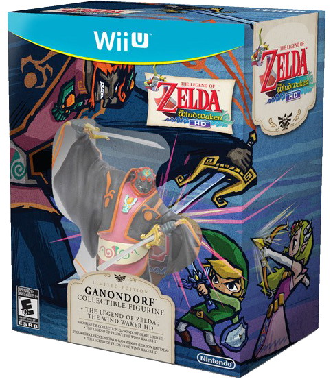 Caixa de The Wind Waker HD com estatueta de Ganondorf